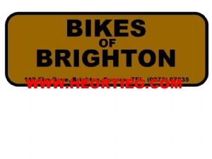 Bikes of Brighton Motorcycles Dealer Decals Transfers  DDQ16